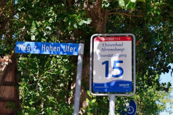 Wanderweg Hohes Ufer von Ahrenshoop nach Wustrow