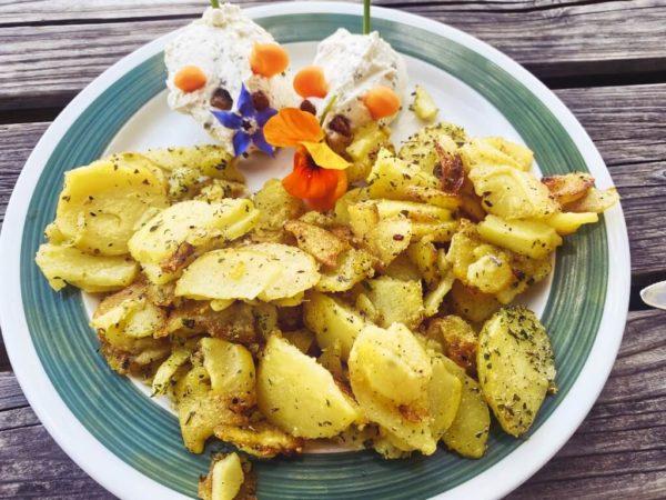 Bratkartoffel mit Ziegenkäse