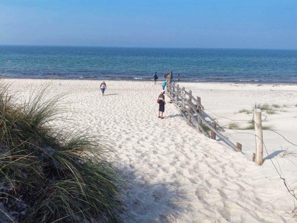 Weißer Strand am Darsser Ort