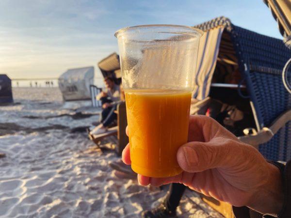 Sanddorn-Spritz zum Sunset