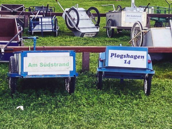 Gepäcktransport per Bollerwagen