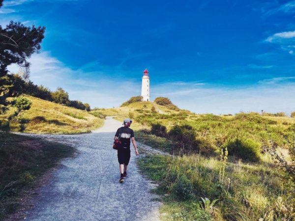 Wandern mit Leuchtturm