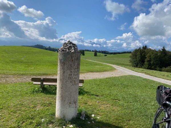 Radtour auf der Via Augusta im Allgäu