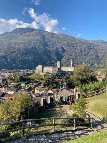 Blick aufs Castelgrande
