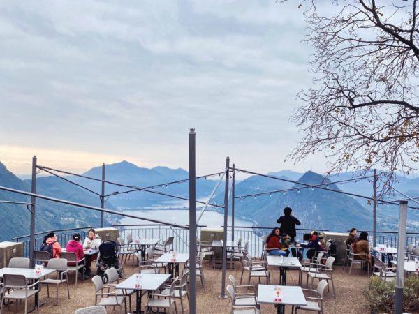 Blick vom Monte Brè auf den Luganer See
