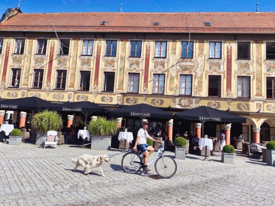 Memminger Marktplatz mit Steuerhaus