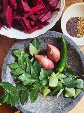 Zutaten fürs Rote-Bete-Curry