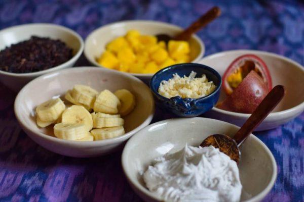 Zutaten für balinesischen Reisepudding