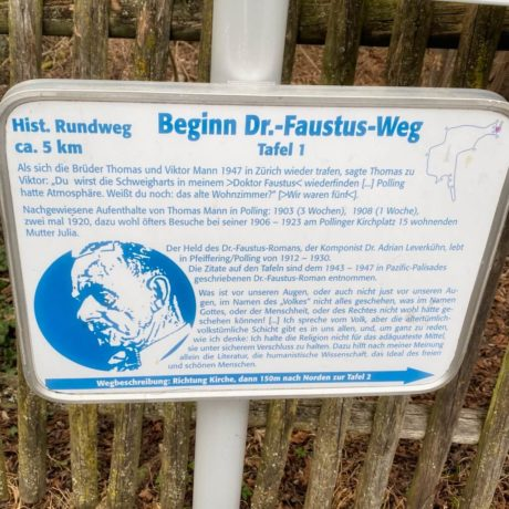 Spazierweg auf den Spuren von Dr. Faustus in Polling