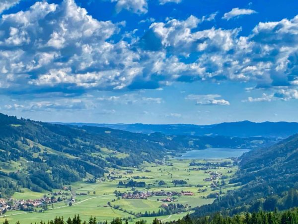 Blick vom Hündle auf den Alpsee bei Immenstadt
