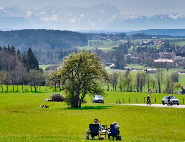 Alpenblick von der Ludwigshöhe