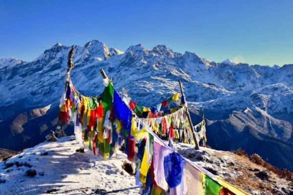 Blick auf die nepalesischen Himalajagipfel