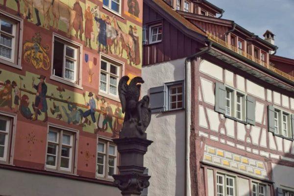 Altstadthäuser in Wangen