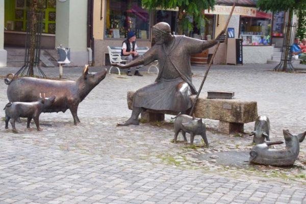 Antoniusbrunnen am Saumarkt in Wangen
