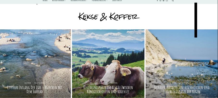 Homepage Kekse & Koffer