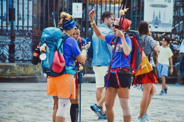Santiago de Compostela: Pilger am Ziel