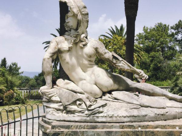 Der sterbende Achill im Achilleion auf Korfu
