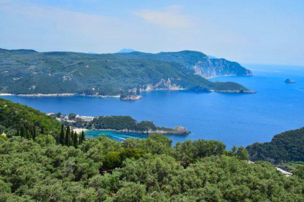 Blick übers Ionische Meer