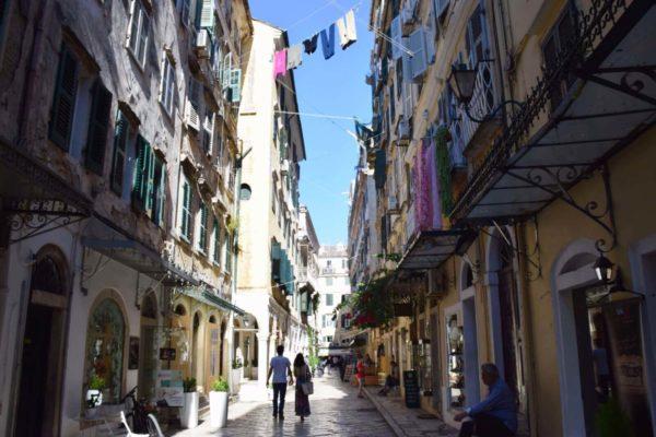Alstadtgassen in Korfu-Stadt