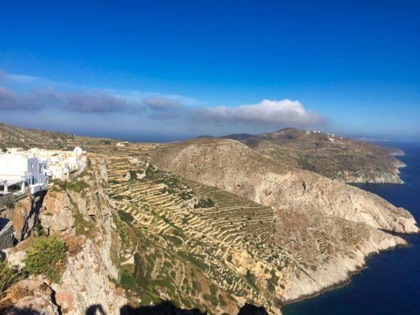 Die Küste von Folegandros