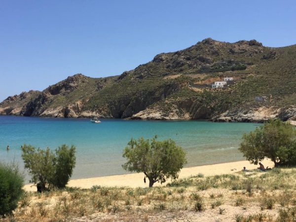 Der weiße Strand von Psili Ammos