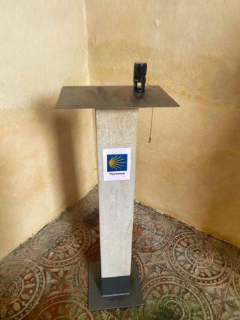 Stempel für Jakobspilger im Welfenmünster in Steingaden