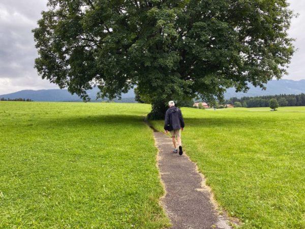 Auf dem Oberammergauer Meditationsweg zur Wieskirche