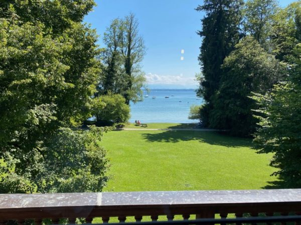 Roseninsel: Blick aus dem Casino auf den Starnberger See