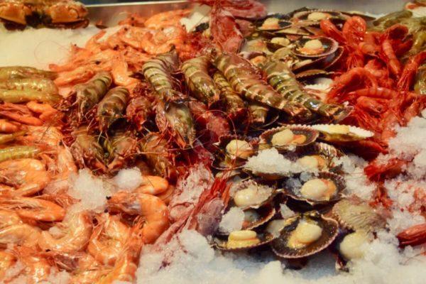 Markthalle von Santa Cruz: Fischabteilung