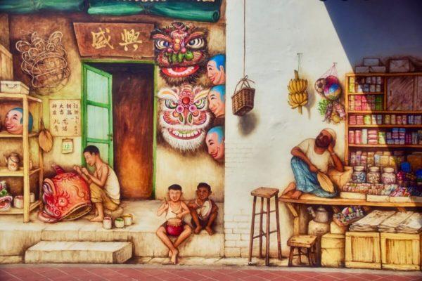 Citytrip Singapur: Streetart in Chinatown