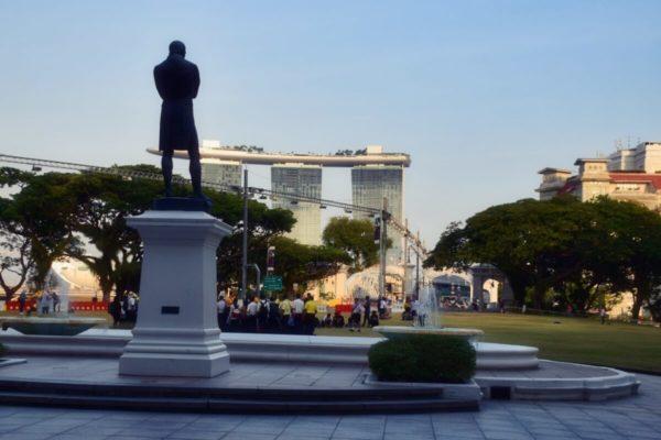 Citytrip Singapur: Stamford Raffles und Marina Bay Sands